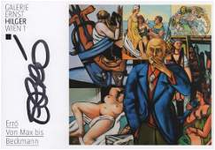 ARTISTS: Small selection of signed colour postcards and
