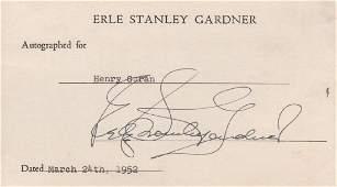 CRIME FICTION: Erle Stanley Gardner (1889-1970)