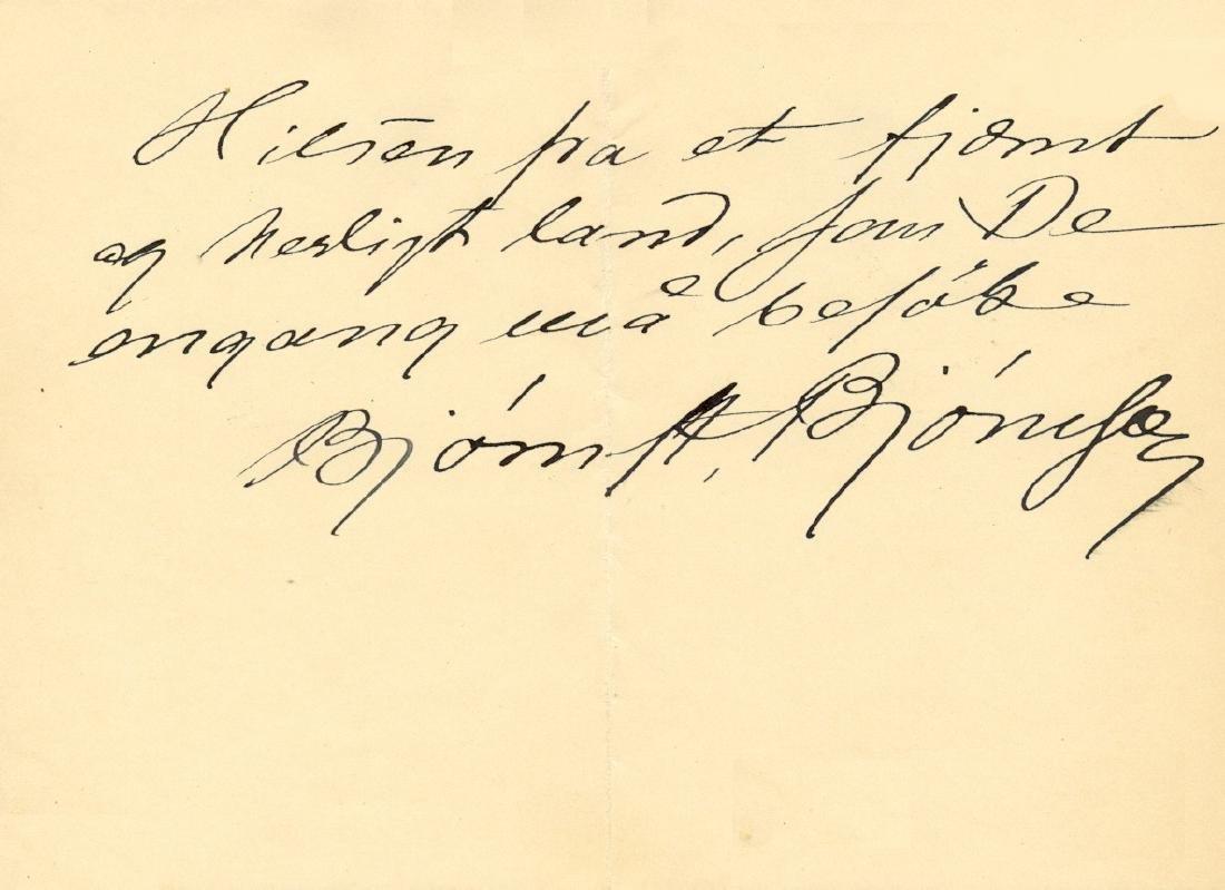 BJORNSON BJORNSTJERNE: (1832-1910)