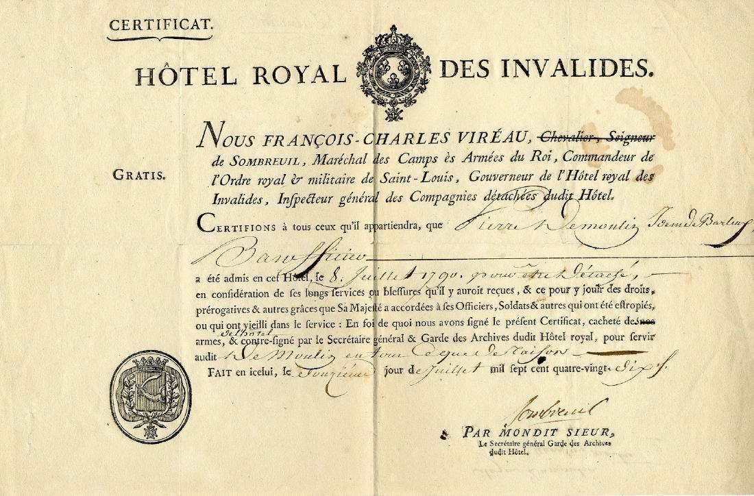 VIROT DE SOMBREUIL CHARLES DE: (1725-1794)
