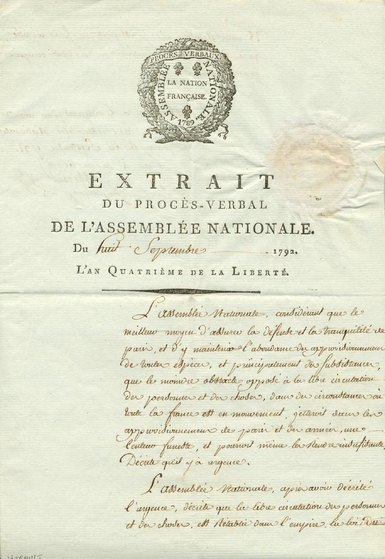 HERAULT DE SECHELLES MARIE JEAN: (1759-1794)