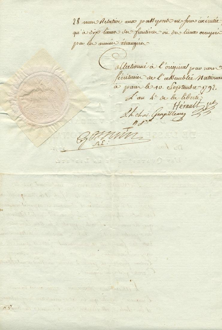 HERAULT DE SECHELLES MARIE JEAN: (1759-1794) - 2
