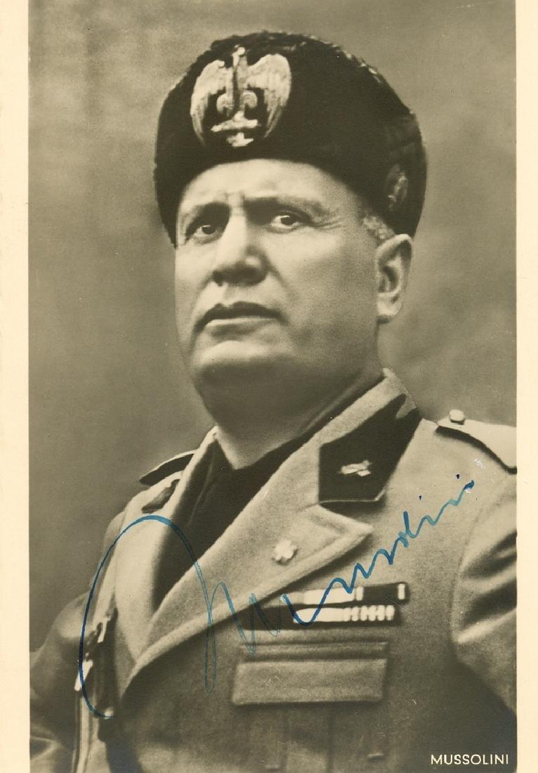 MUSSOLINI BENITO: (1883-1945)