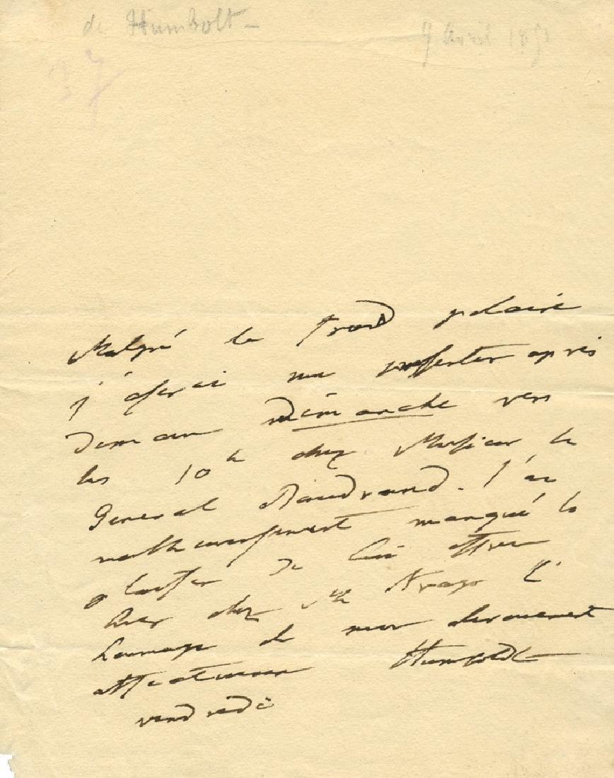 HUMBOLDT ALEXANDER: (1769-1859)