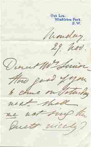 LIND JENNY: (1820-1887)