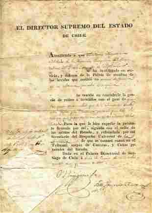 O HIGGINS BERNARDO: (1778-1842)