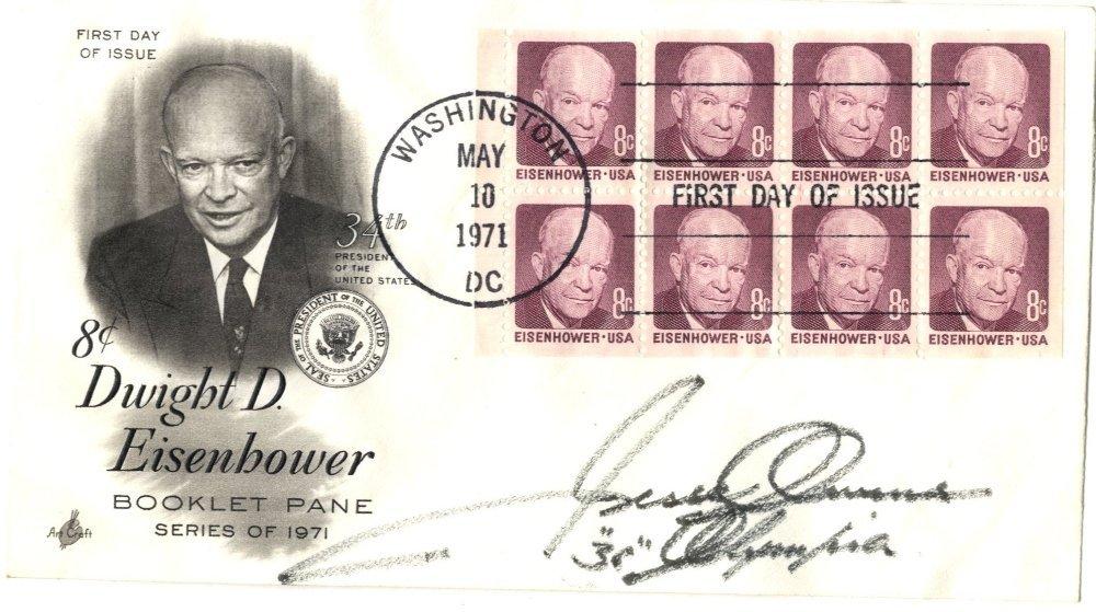 3: OWENS JESSE: (1913-1980) American Athlete, famous fo