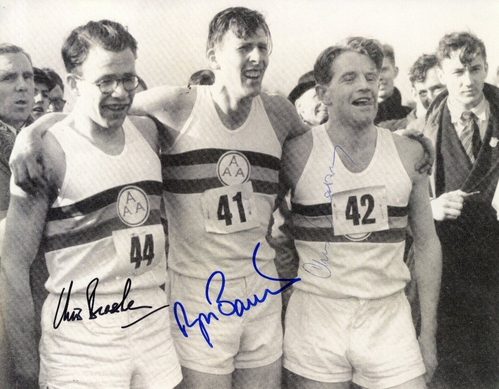 8: ATHLETICS: Signed 9.5 x 7.5 photograph by Roger Bann