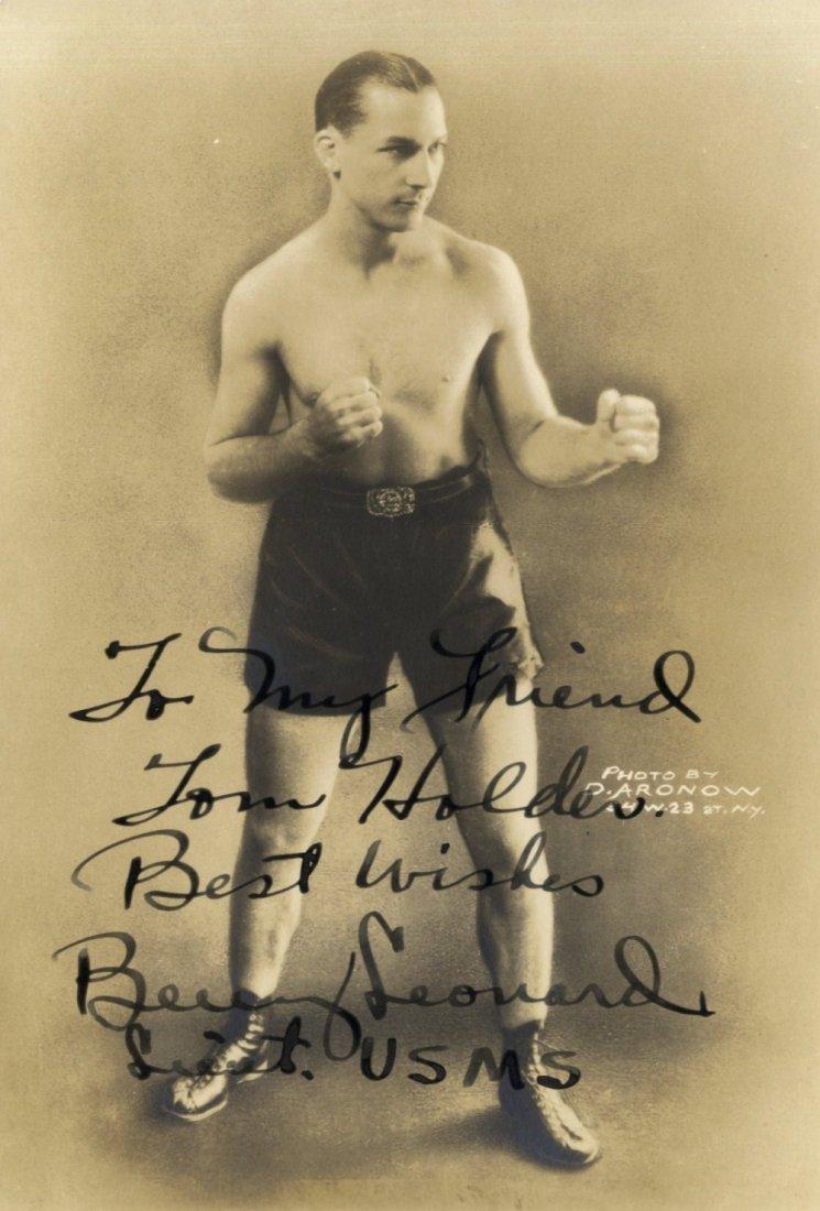 12: LEONARD BENNY: (1896-1947) American Boxer, World Li