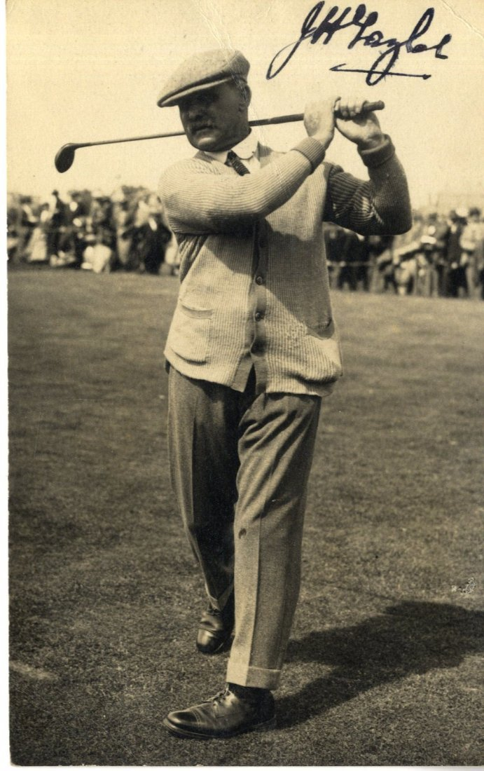1: TAYLOR J. H.: (1871-1963) English Golfer, Open Champ