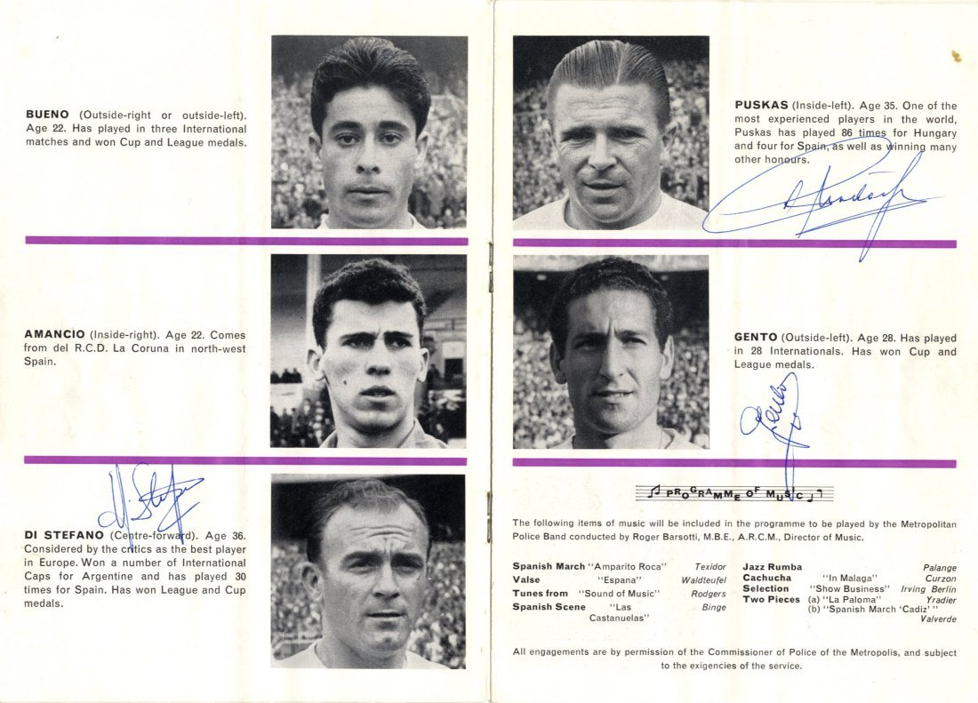 14: REAL MADRID: A printed 8vo official programme for A