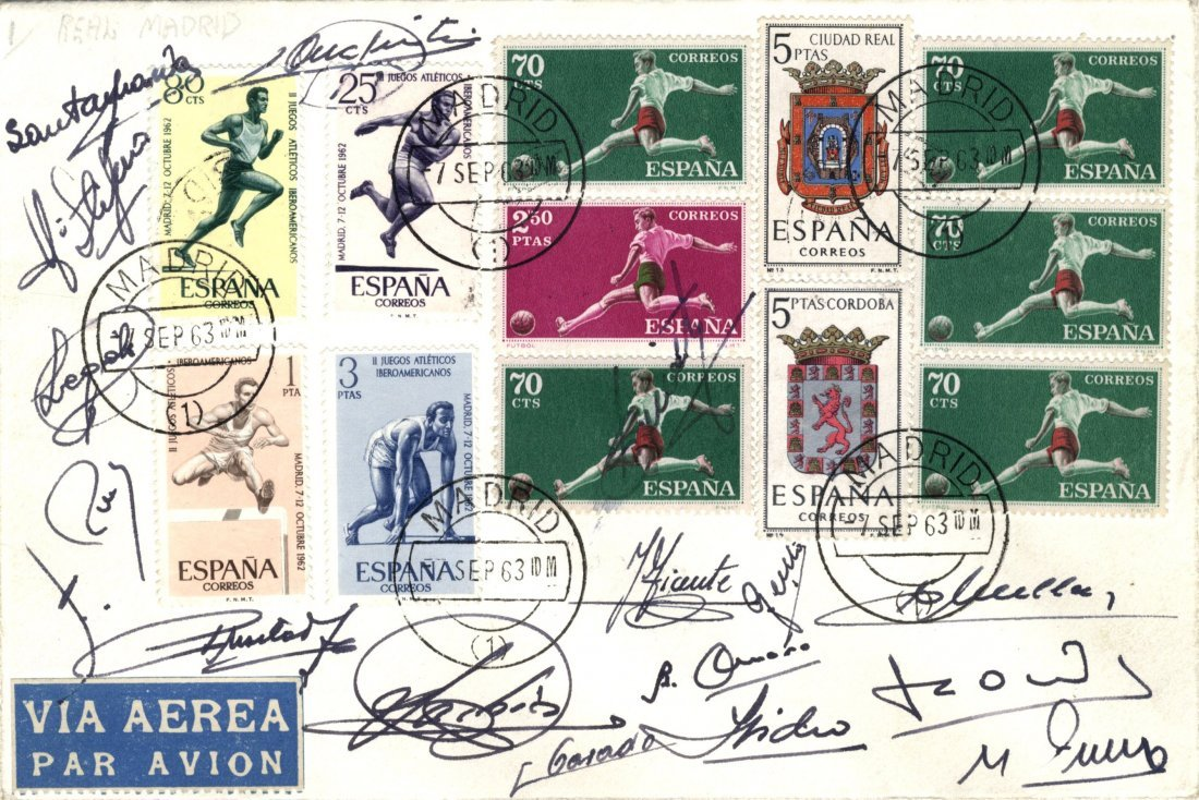 15: REAL MADRID: A commemorative cover individually sig
