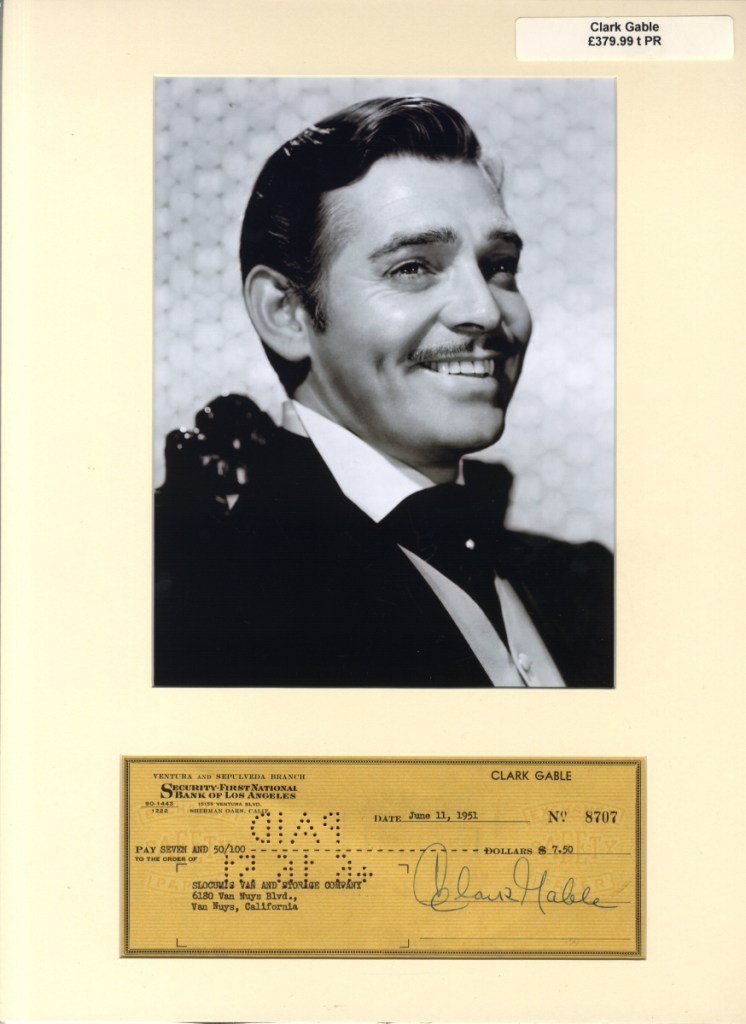 14: GABLE CLARK: (1901-1960) American Actor, Academy Aw