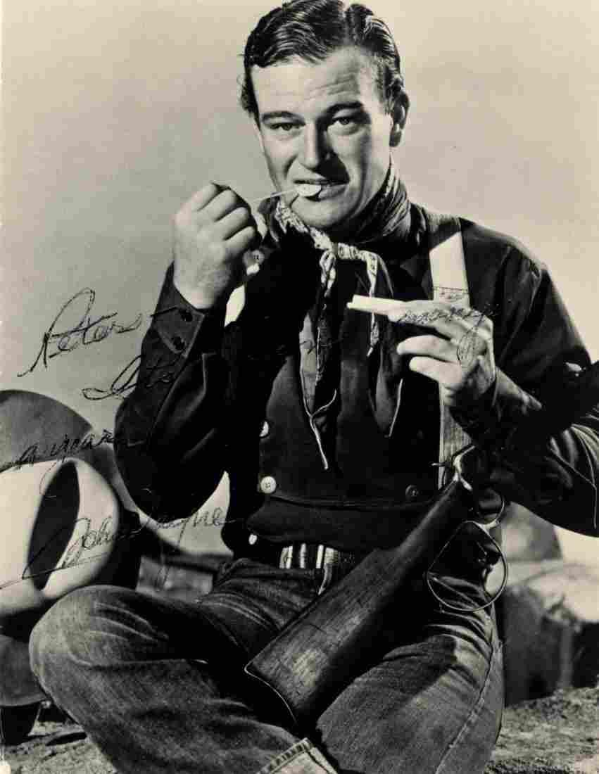 129: WAYNE JOHN: (1907-1979) American Actor, Academy Aw