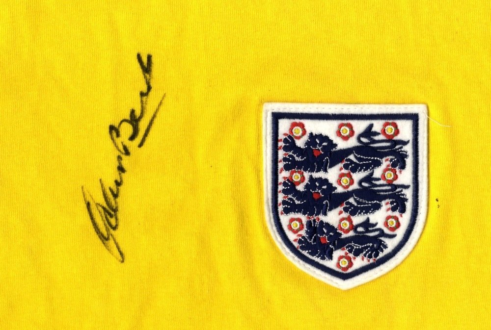 BANKS GORDON: A yellow replica Toffs England goalkeeper