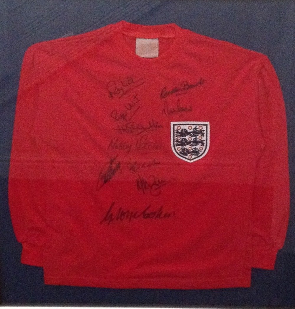 ENGLAND FOOTBALL: A red Toffs souvenir England football
