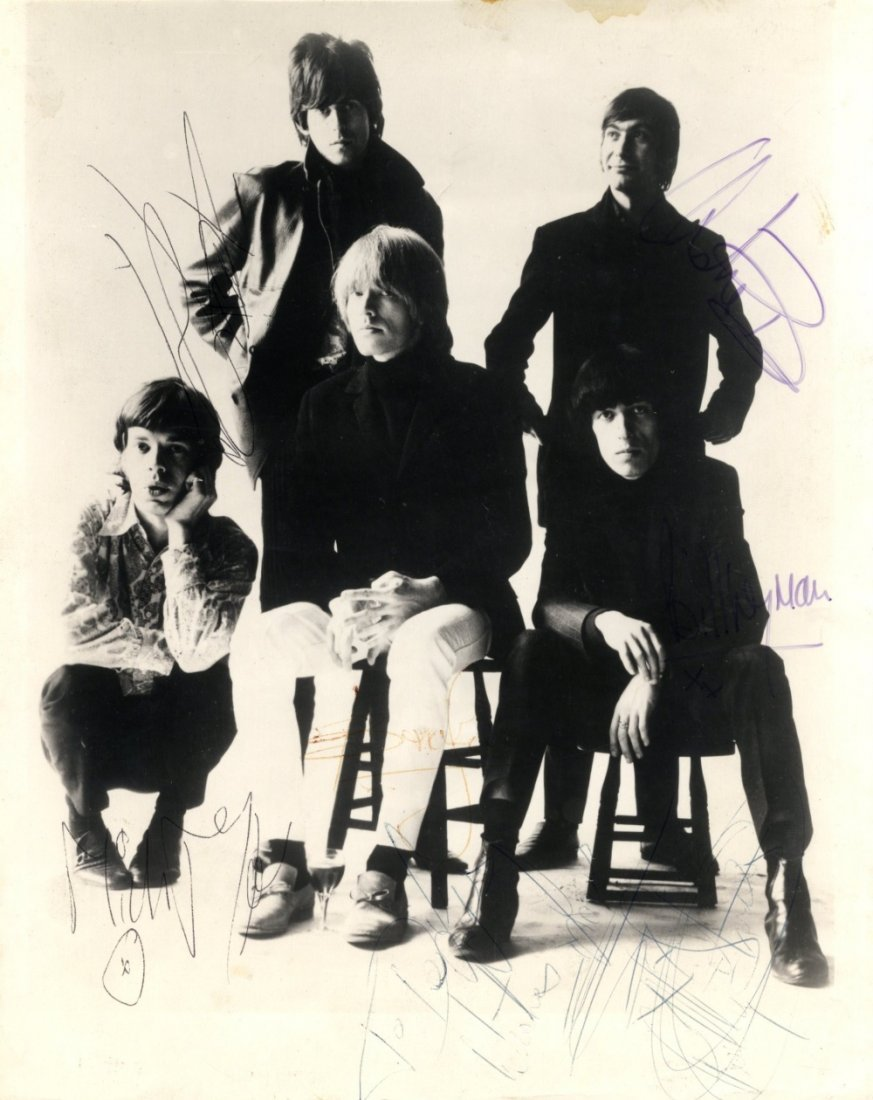 ROLLING STONES THE: Vintage signed and inscribed 8 x 10