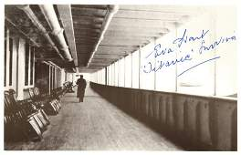 RMS TITANIC Small selection of signed postcard ph