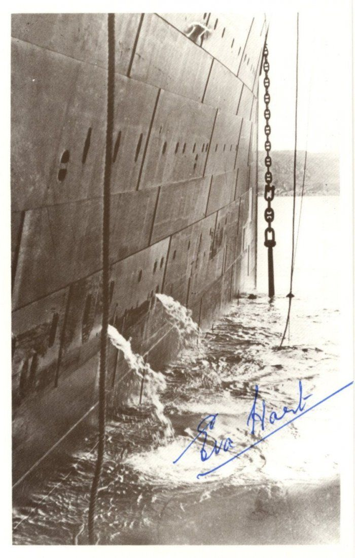 [R.M.S. TITANIC]: Small selection of signed postcard ph