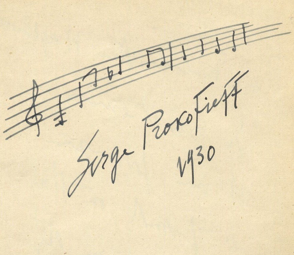PROKOFIEFF SERGE: (1891-1953) Russian Composer and Pian