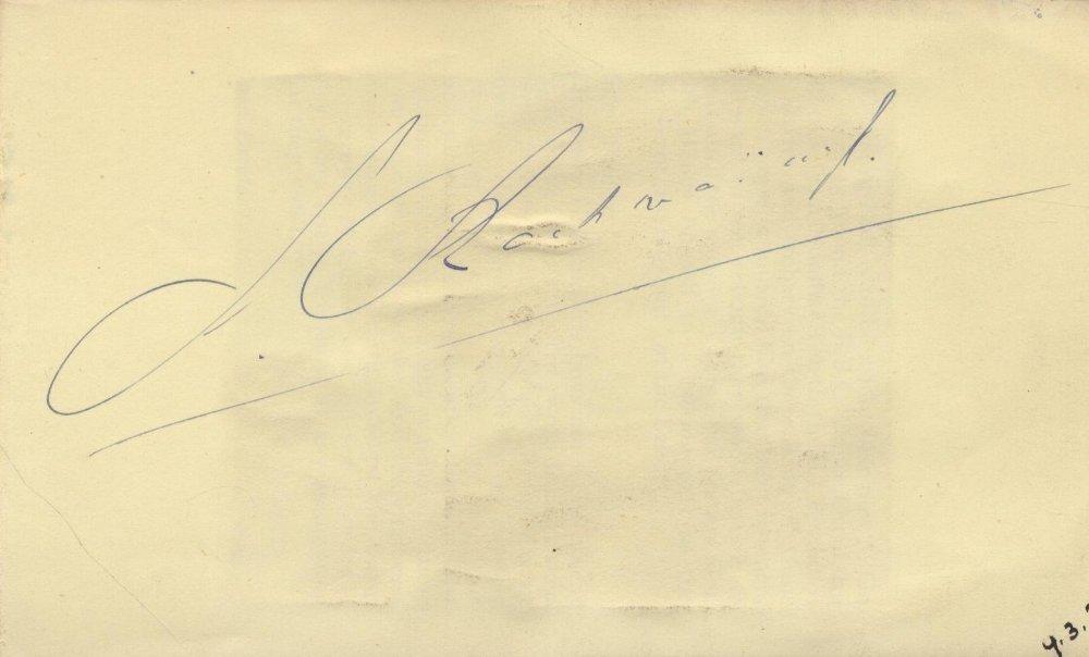 RACHMANINOFF SERGEI: (1873-1943) Russian Composer. Foun