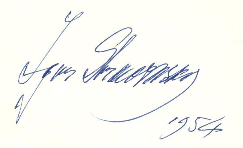 STRAVINSKY IGOR: (1882-1971) Russian Composer. A good b