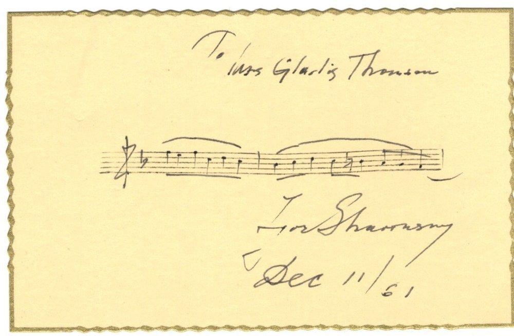 STRAVINSKY IGOR: (1882-1971) Russian Composer. A good,