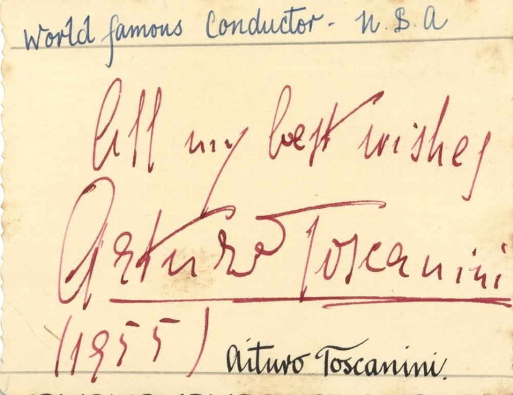 TOSCANININI ARTURO: (1867-1957) Italian Conductor. Bold