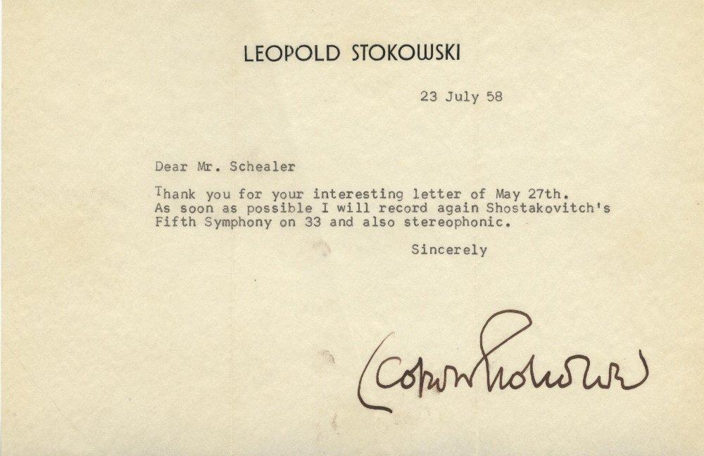 STOKOWSKI LEOPOLD: (1882-1977) British Orchestral Condu