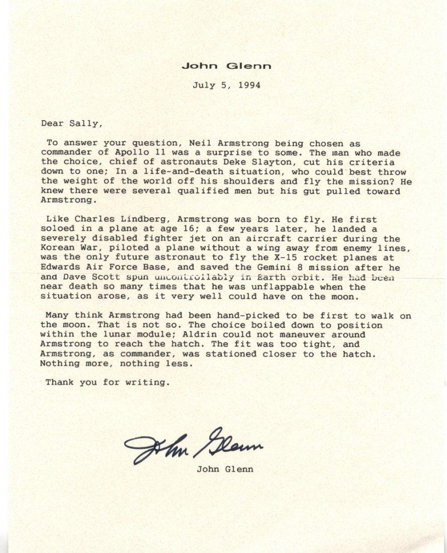 GLENN JOHN: (1921 - ) American Astronaut. An in