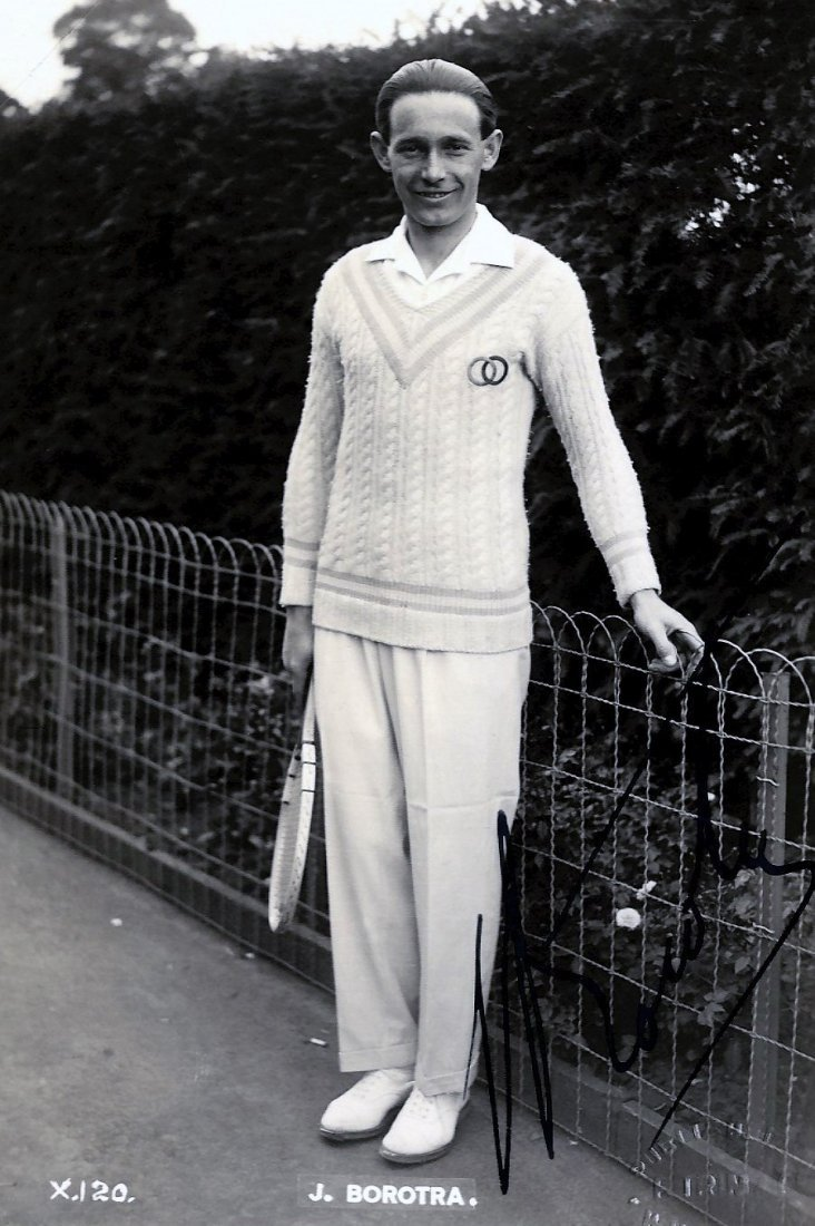 BOROTRA JEAN: (1898-1994) French Tennis Player, Wimbled