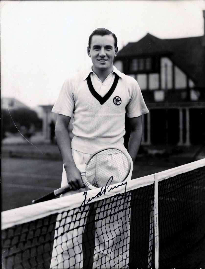 PERRY FRED: (1909-1995) English Tennis Player, Wimbledo