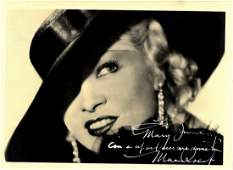 WEST MAE: (1893-1980) American Actress & Sex Symbol. A