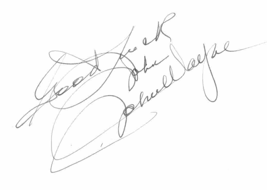 WAYNE JOHN: (1907-1979) American Actor, Academy Award w