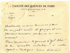 CURIE PIERRE: (1859-1906) French Physicist, a pioneer