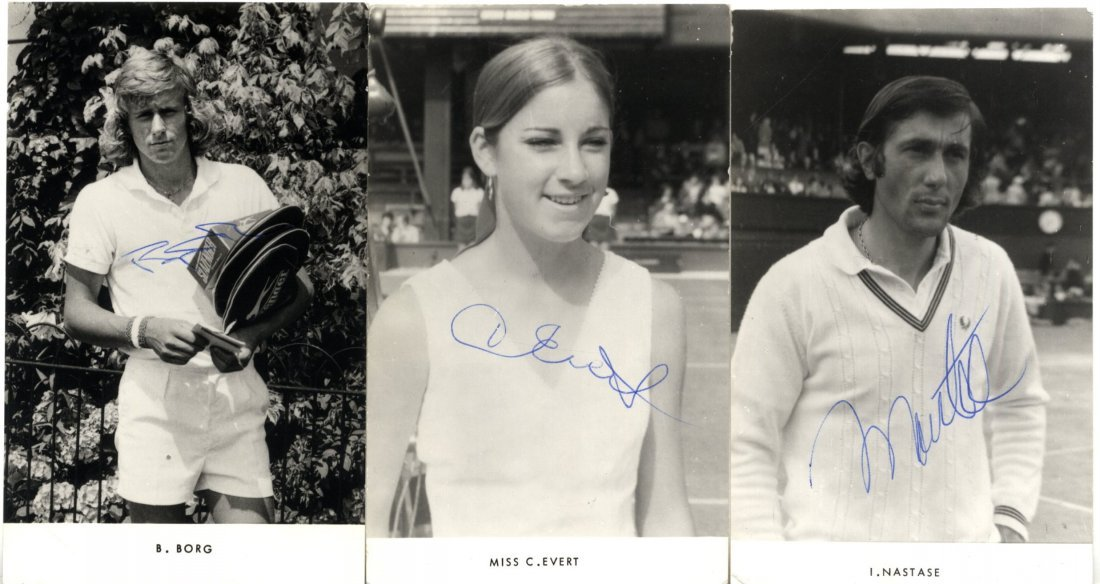 TENNIS: An excellent collection of 31 signed postcard p