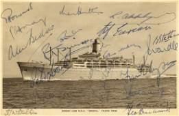 ENGLAND CRICKET: A vintage sepia postcard photograph of