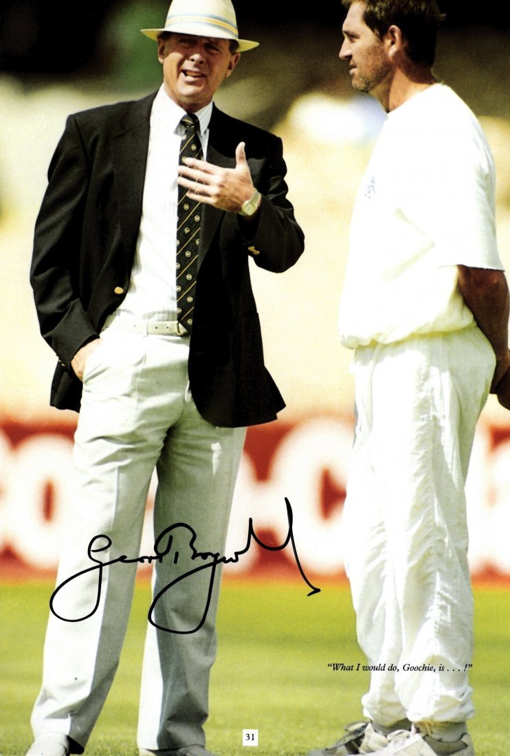 CRICKET: Selection of signed magazine photographs of va