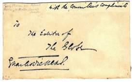 DICKENS CHARLES: (1812-1870) English Novelist.
