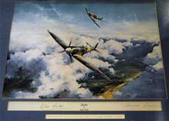 WORLD WAR II A colour 24 x 20 print by artist Robert