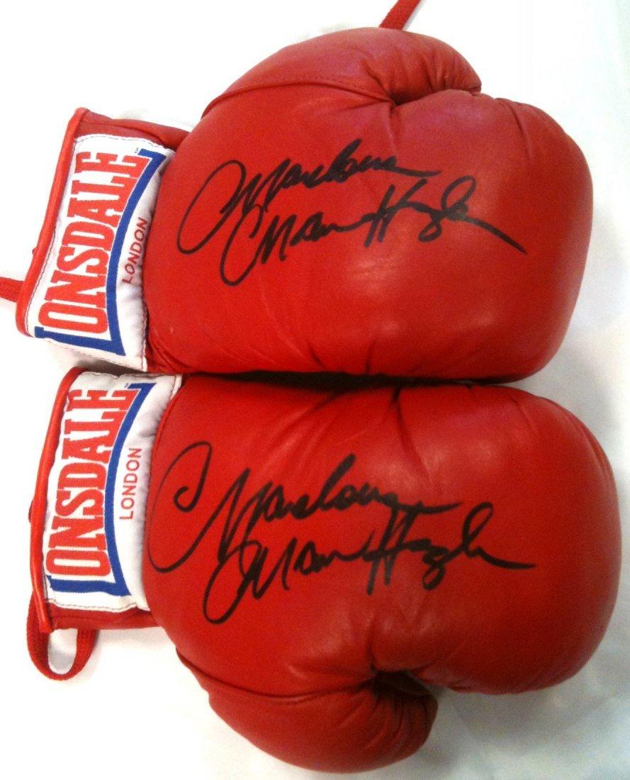 HAGLER MARVELOUS MARVIN: (1954- ) American Boxer, World