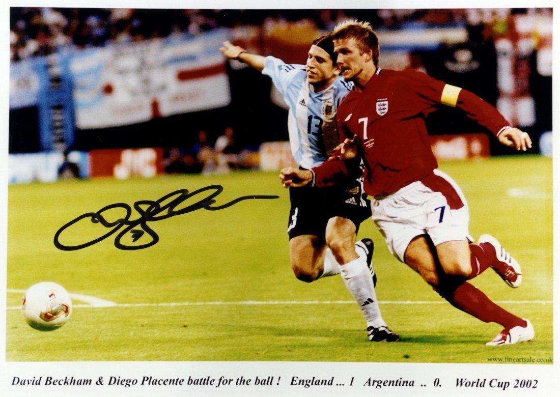 BECKHAM DAVID: (1975- ) English Footballer. Signed