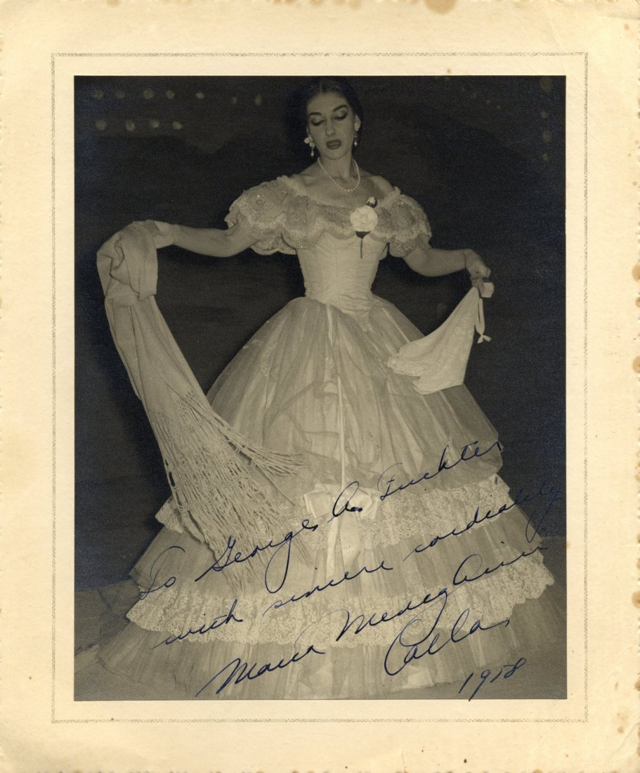 CALLAS MARIA: (1923-1977) American-born Greek Soprano.