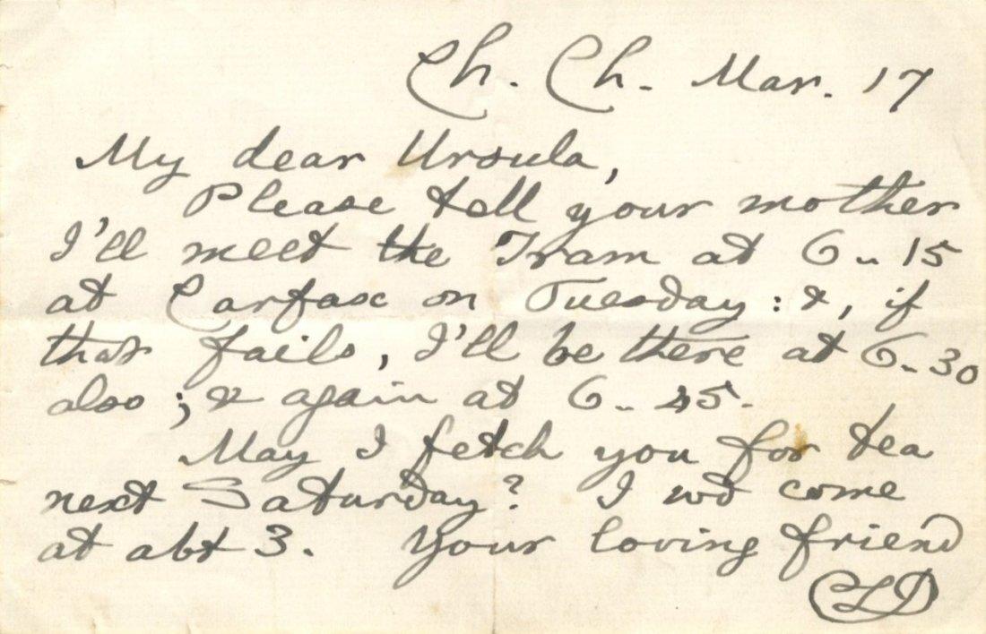 DODGSON C. L.: (1832-1898) Lewis Carroll. English
