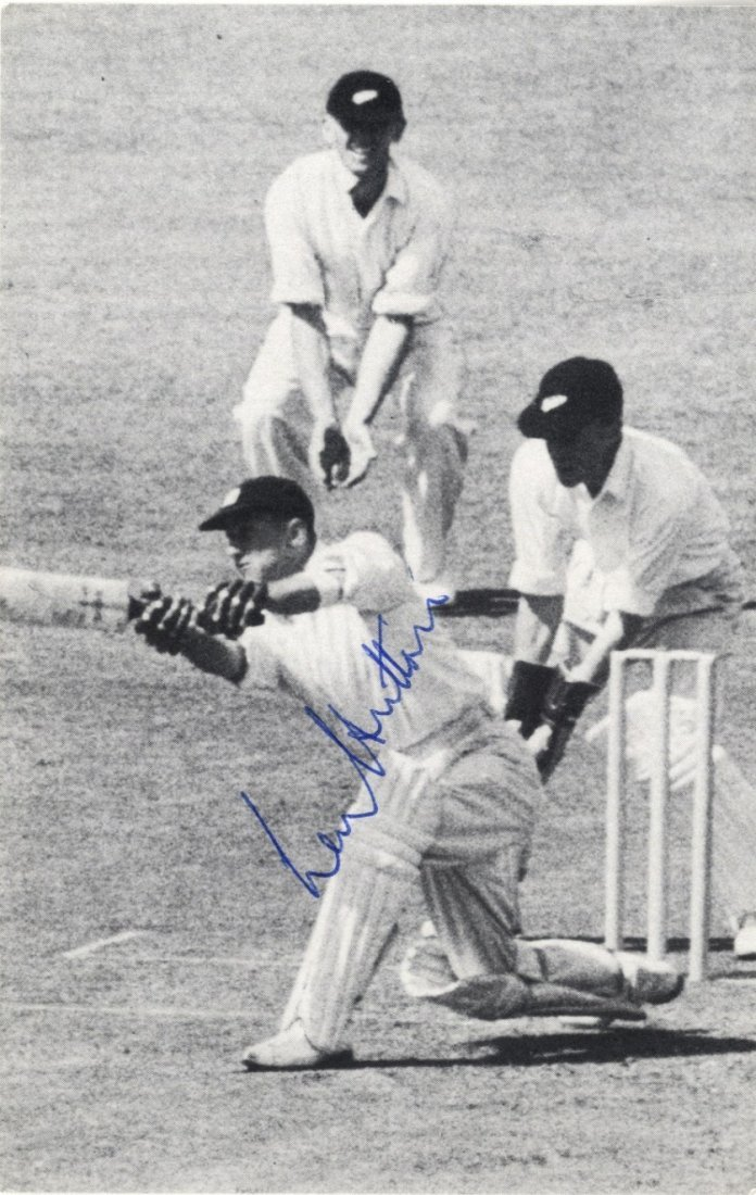 CRICKET: Selection of signed postcard photographs and a