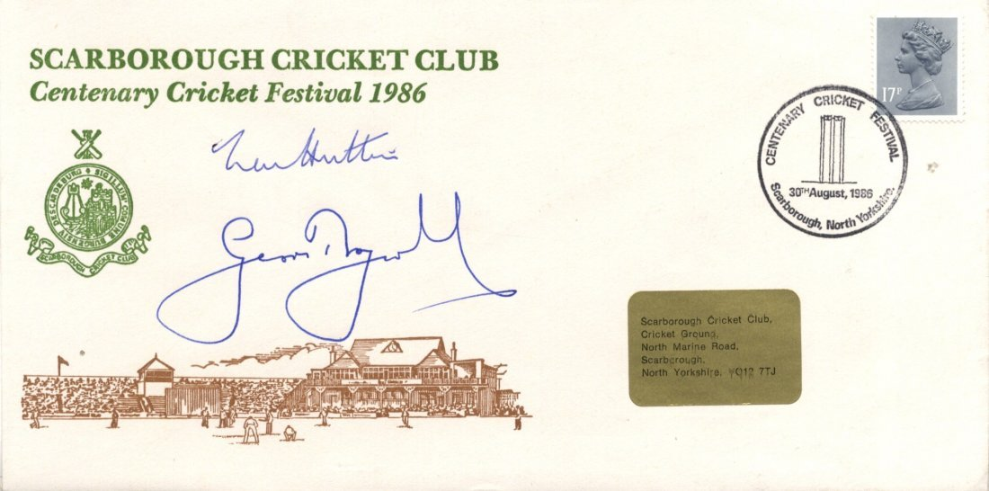 CRICKET: Selection of signed postcard photographs and