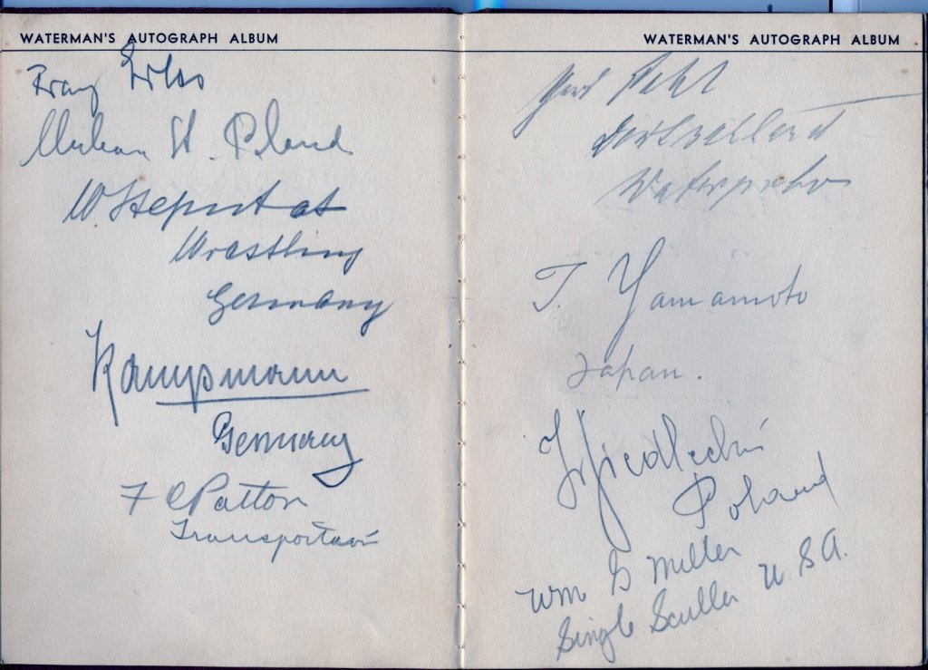 OLYMPIC GAMES 1932: An 8vo Waterman´s autograph album
