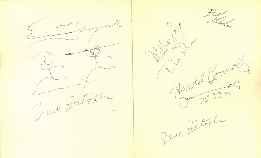 OLYMPIC GAMES 1960: A good autograph album containing