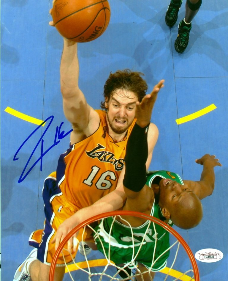 GASOL PAU: (1980- ) Spanish Basketball Player. Two
