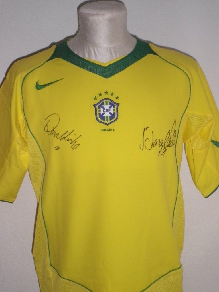 BRAZILIAN FOOTBALL: A yellow souvenir short sleeve Nike